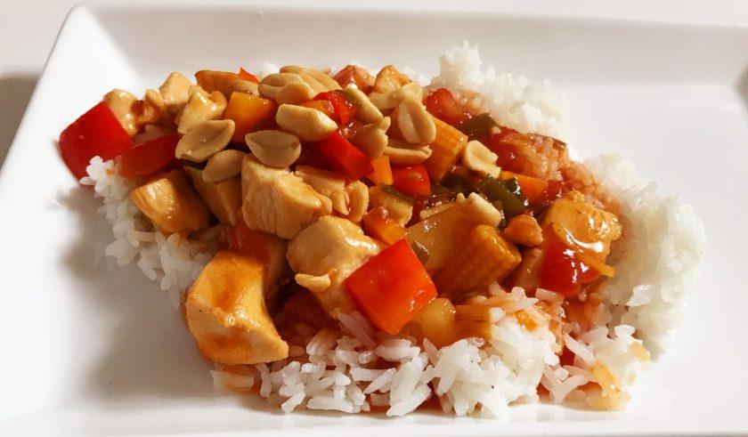 kinesisk kylling i karry