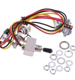 details about wiring harness prewired 2v2t 3 way toggle kit set for gibs lp electric guitar [ 1001 x 1001 Pixel ]