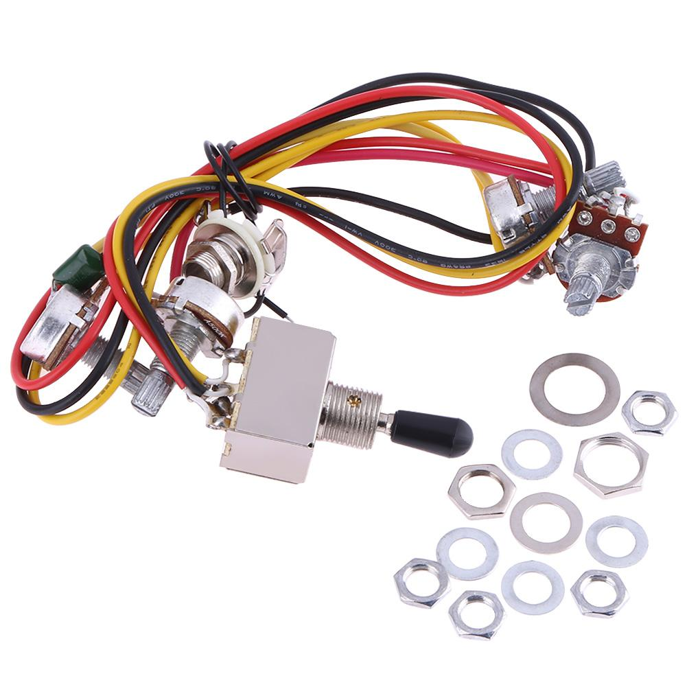 hight resolution of details about wiring harness prewired 2v2t 3 way toggle kit set for gibs lp electric guitar