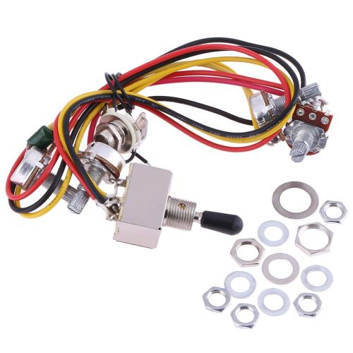 small resolution of details about wiring harness prewired 2v2t 3 way toggle kit set for gibs lp electric guitar