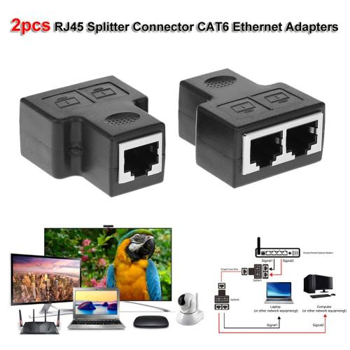 small resolution of details about 2pcs 1 to 2 rj45 splitter connector cat6 lan ethernet network adapter 100 mbps