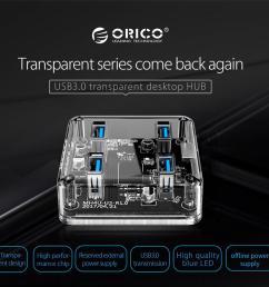 details about orico 4 ports usb 3 0 transparent hub micro port data cable led desktop laptop [ 1001 x 1001 Pixel ]