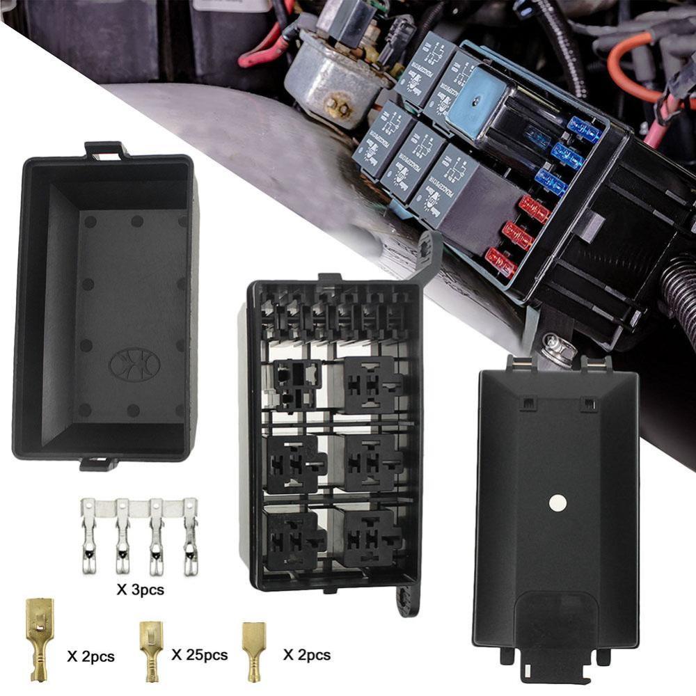 medium resolution of details about universal dc 12v car marine 6 way relay 6 slot blade fuse holder box block