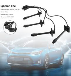 details about for toyota camry rav4 solara 97 01 spark plug ignition lead wire set 90919 22400 [ 1001 x 1001 Pixel ]