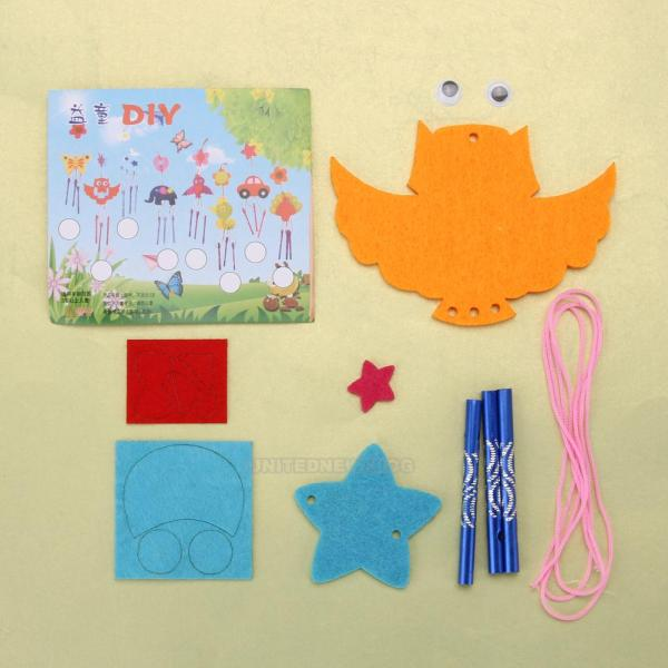 1 Set Diy Wind Chime Kit Educational Craft Toys Kids
