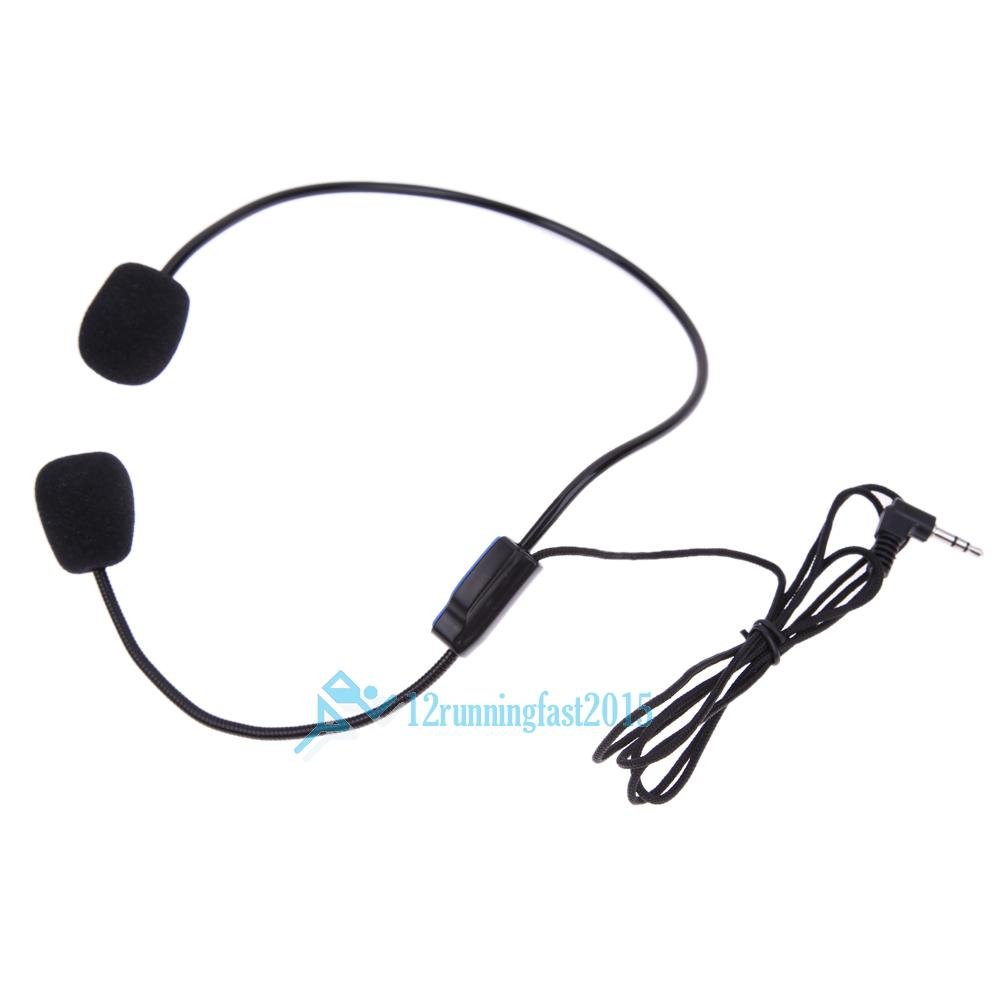 Teacher Head-mounted Headset Microphone Mic for Voice