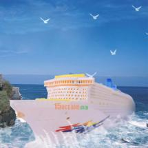 50cm Ocean Liner Ship Model With Flashing Light & Sound
