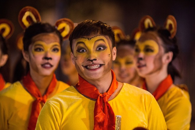 HONG KONG - FEBRUARY 08: Performers participate at the 2016 Cathay Pacific International Chinese New Year Night Parade on February 8, 2016 in Hong Kong. The Chinese Lunar New Year also known as the Spring Festival, which is based on the Lunisolar Chinese calendar, is celebrated from the first day of the first month of the lunar year and ends with Lantern Festival on the fifteenth day. (Photo by Lam Yik Fei/Getty Images)