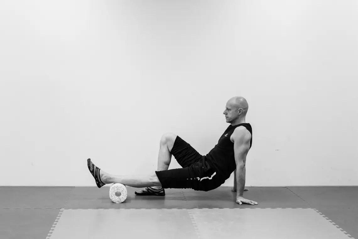 放鬆肌肉︰滾輪舒壓按摩