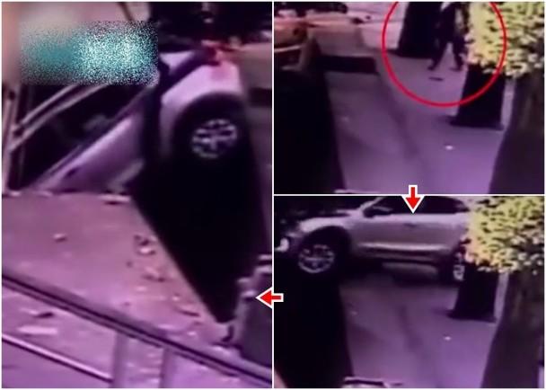 越野車失控剷上行人路 途人被撞飛傷勢未明