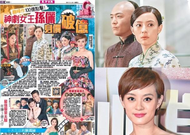 東方日報C1:「神劇女王」孫儷身價破億 即時新聞 東網巨星 on.cc東網