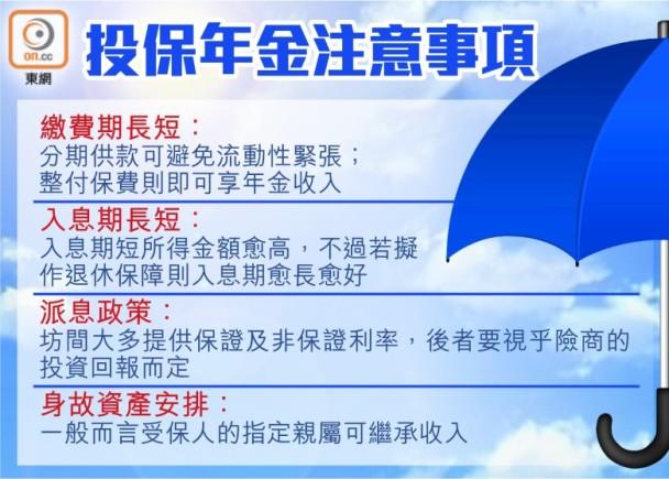 【自製長糧】部署投保年金4大注意事項 即時新聞 財經 on.cc東網