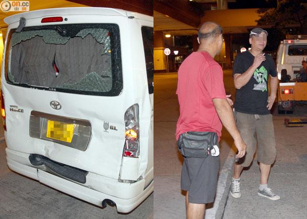 水滾客貨車遭巴士隊尾 大命司機嚇餐飽 即時新聞 港澳 on.cc東網