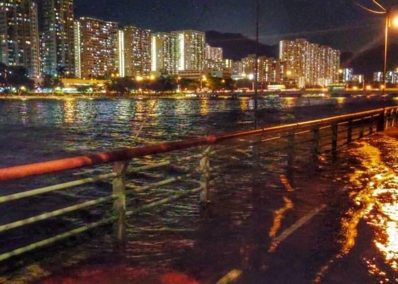 奇景!城門河水暴漲 單車徑變汪洋 - 東網即時