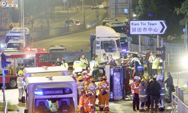 八鄉大車禍:死者全為小巴乘客 包括女嬰 即時新聞 港澳 on.cc東網