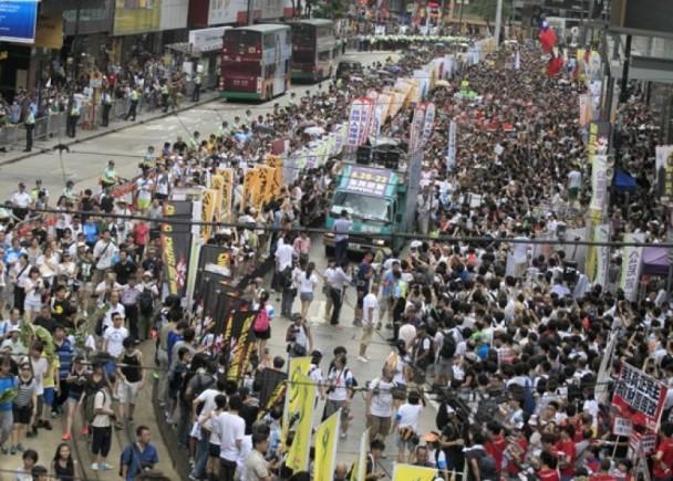 七一遊行民陣終點設臺 警部署防佔領|即時新聞|港澳|on.cc東網