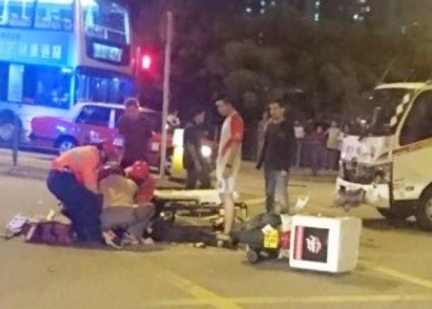 拖車撼外賣電單車 Pizza Hut速遞員喪命 即時新聞 港澳 on.cc東網