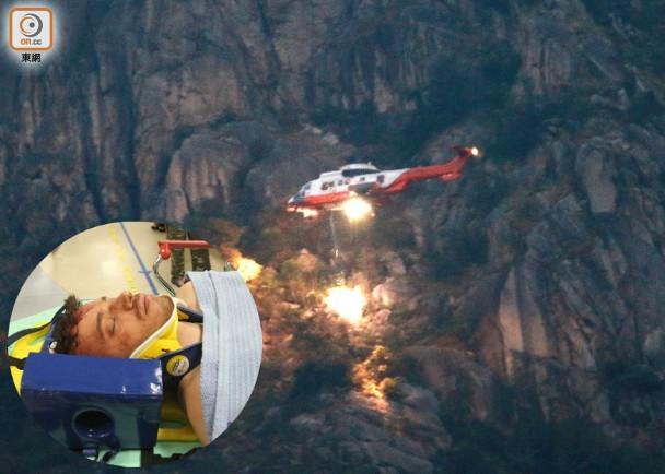 攀獅子山洋漢墮崖傷 直升機出動拯救 即時新聞 港澳 on.cc東網
