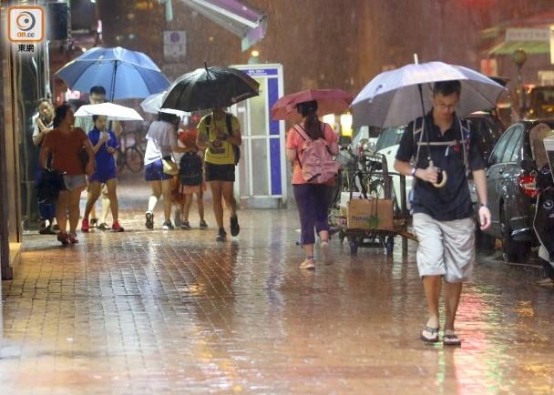 天文臺發出黃色暴雨警告 1小時20分後取消 即時新聞 港澳 on.cc東網