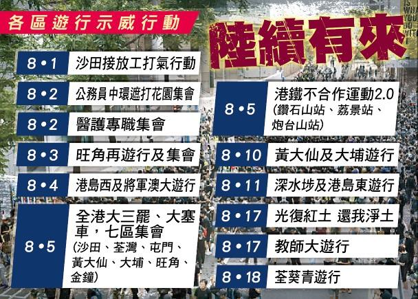 修例風波:旺角再遊行被拒 將軍澳獲不反對通知書|即時新聞|港澳|on.cc東網
