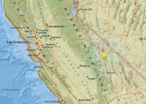 美加州東部山區發生4.8級地震|即時新聞|國際|on.cc東網