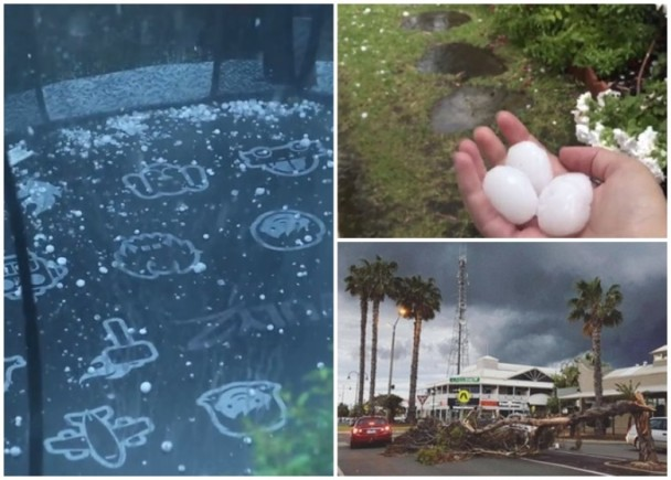 澳洲東部惡劣天氣 天降如高球大冰雹|即時新聞|國際|on.cc東網