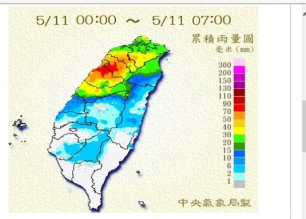 雲林以北發布大雨特報 天氣轉涼各地有雨 即時新聞 臺灣 on.cc東網