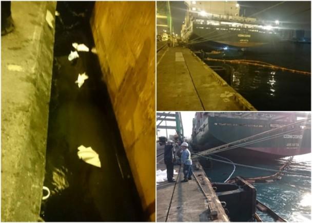 長榮貨輪疑油管爆裂 20公升重油污染高雄港|即時新聞|臺灣|on.cc東網