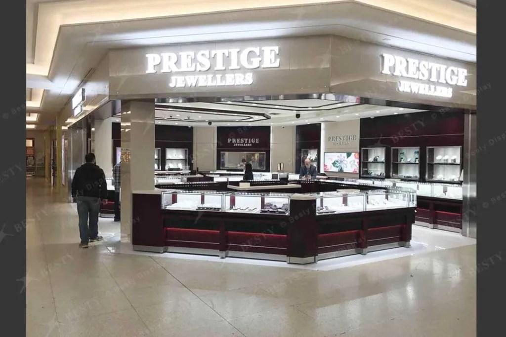 LED Glass Showcase in PRESTIGE Shop | Besty Display