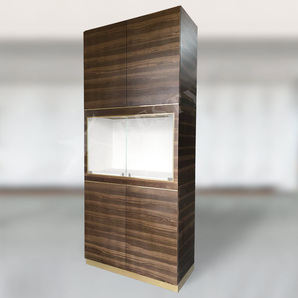 Display Cabinet Oak Effect   Besty Display
