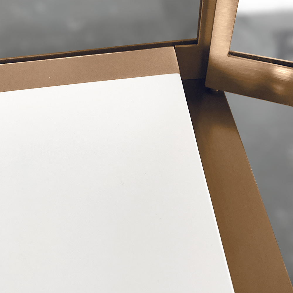 White PU Leather Board Detail | Besty Display