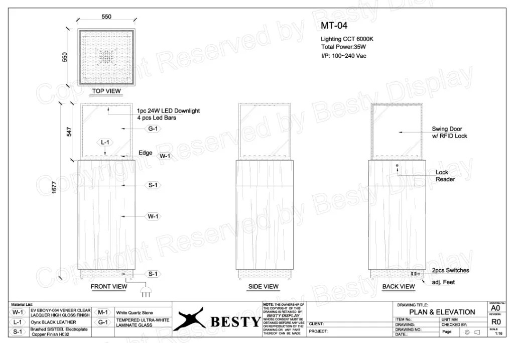 MT-04 Technical File Measurement   Besty Display