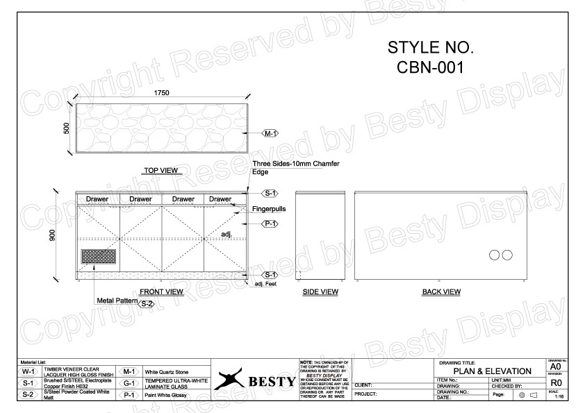 CBN-001 Technical File Measurement | Besty Display