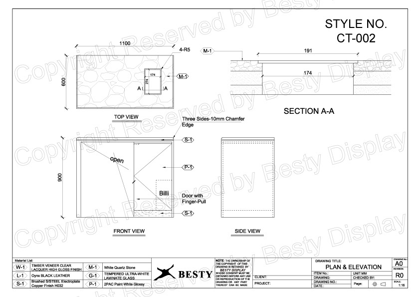 CT-002 Technical File Measurement | Besty Display