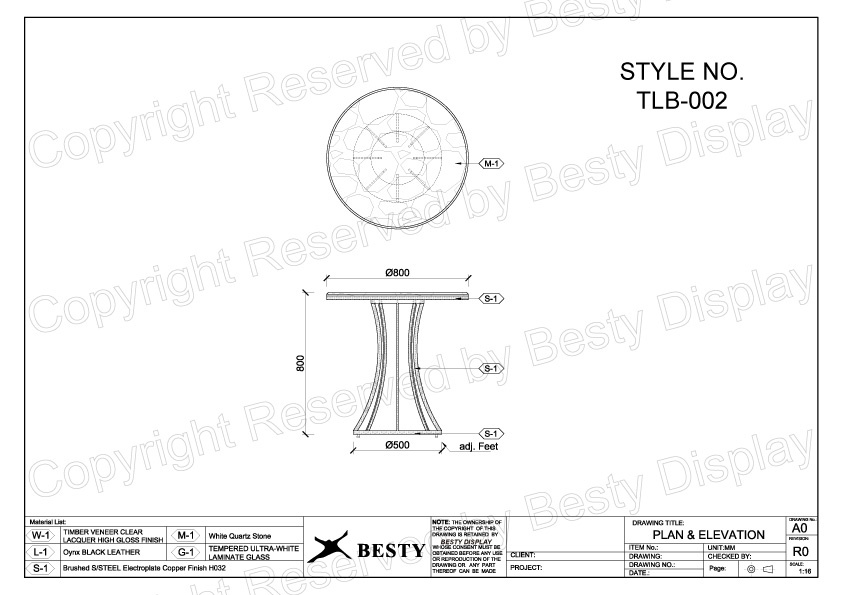 TBL-002 Technical File Measurement | Besty Display