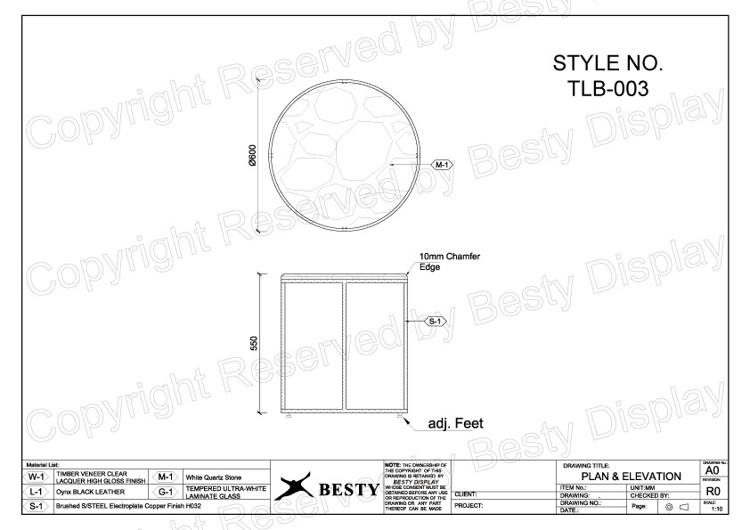 TBL-003 Technical File Measurement | Besty Display