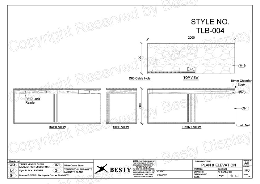 TBL-004 Technical File Measurement   Besty Display