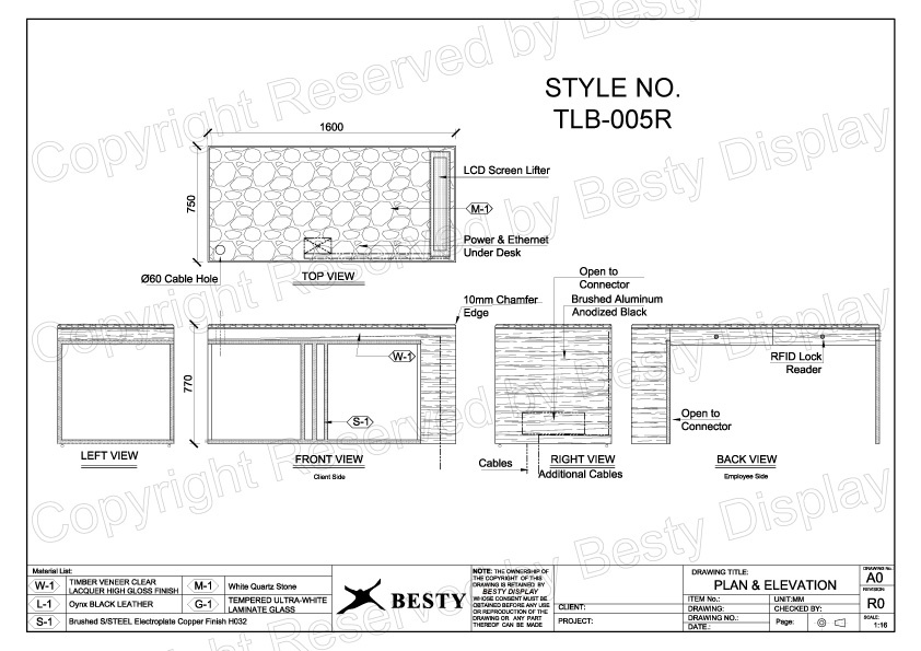 TBL-005R Technical File Measurement | Besty Display