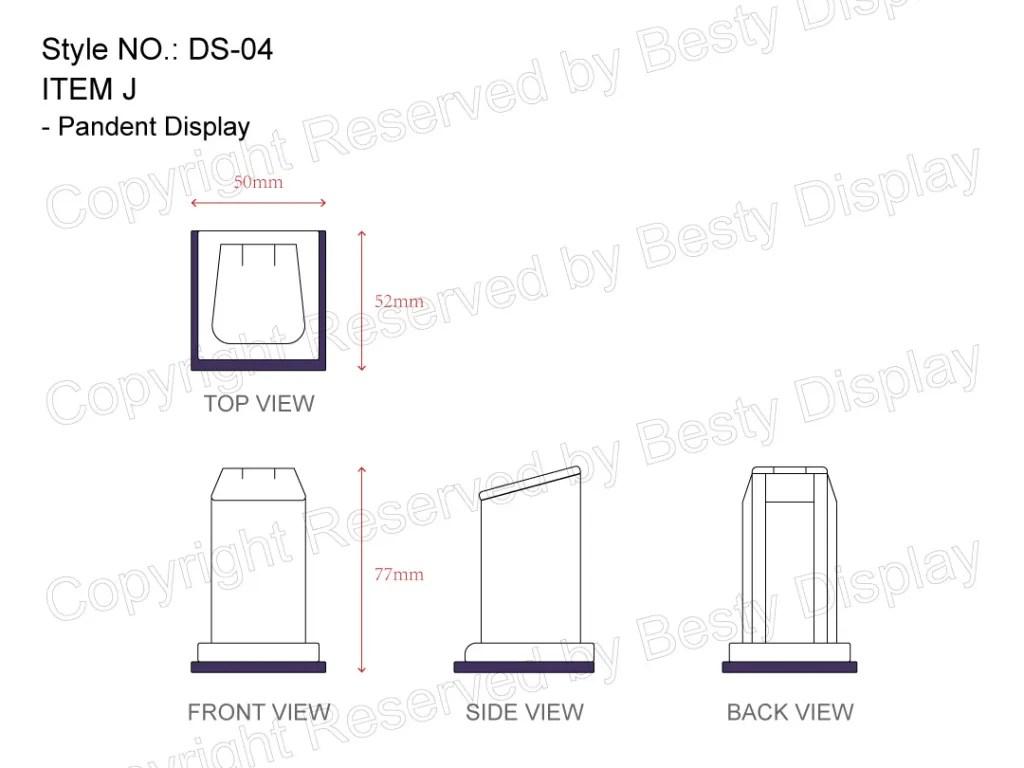 DS-004 Item J Measurement | Besty Display