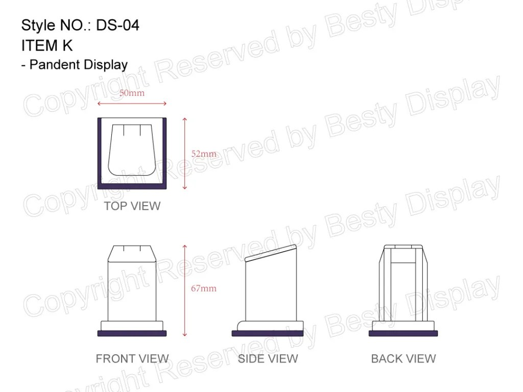 DS-004 Item K Measurement | Besty Display
