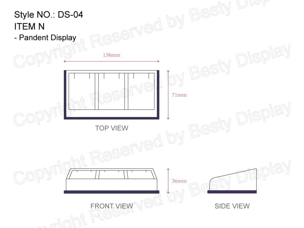 DS-004 Item N Measurement | Besty Display