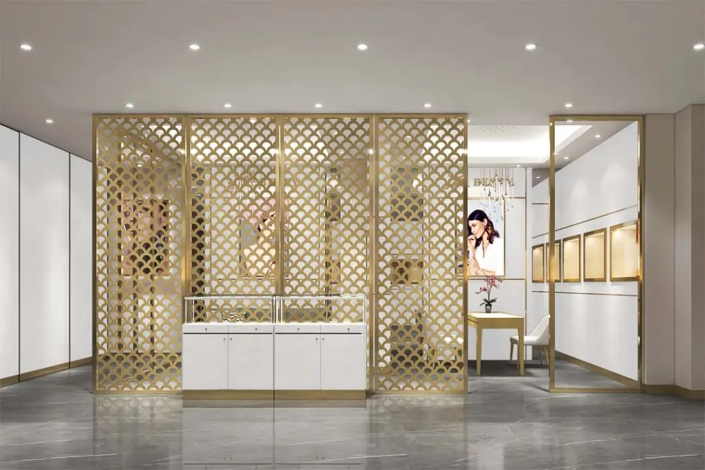 MPW-12 Metal Partition Wall | Besty Display