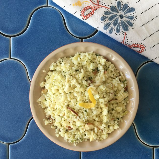 """Lemon-Almond Cauliflower """"Couscous"""""""
