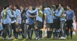 أوروجواي في دور الثمانية للمونديال للمرة الأولى منذ 40 عاما