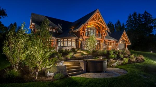 Timber Frame Lake House - Holmes King Kallquist