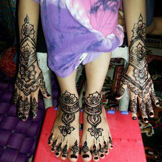 Gambar Henna Tangan Dan Kaki