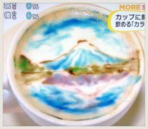 富士山 カラーラテアート