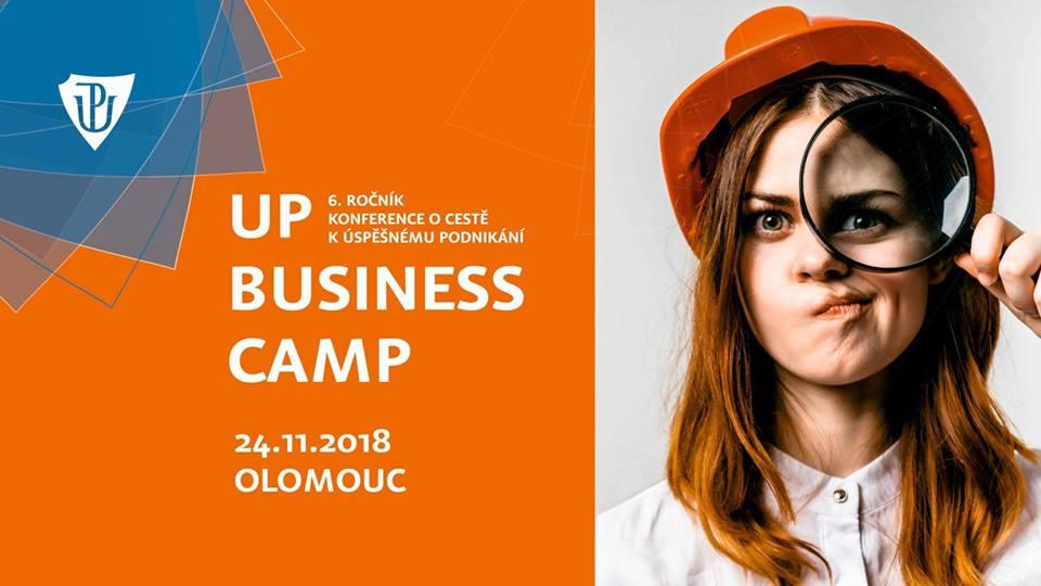 Hvězdy startupové scény, mladí podnikatelé a markeťáci dorazí na listopadový UP Business Camp v Olomouci