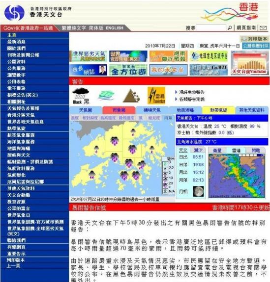 香港網上天氣平臺 Hong Kong Online Weather Channel - 網站部落格