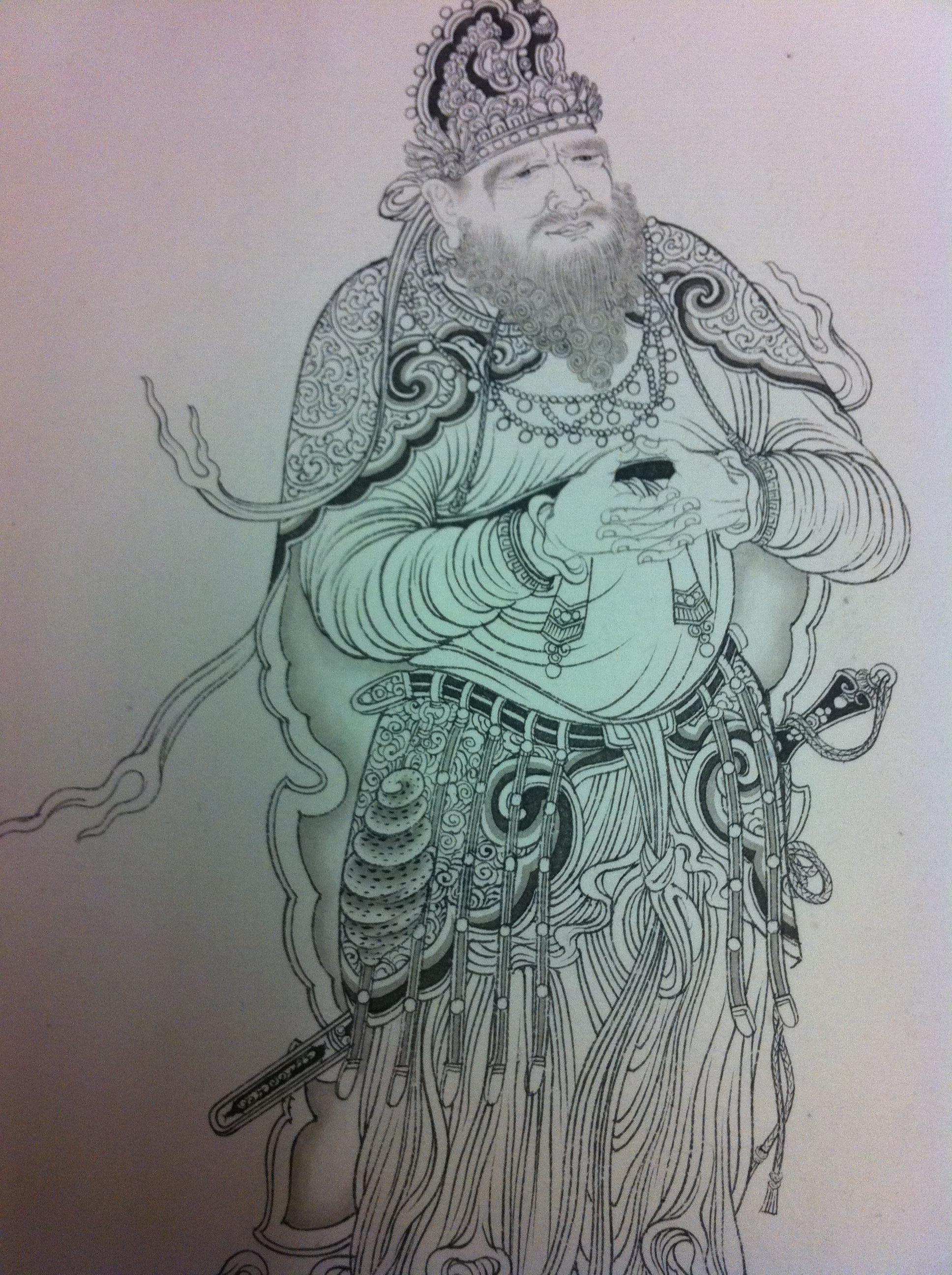 柳蕊成白描臨《維摩詰演教》圖紙本手卷2011年7月作橫 | 石頭當代藝術書畫藏珍網誌